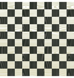 Wooden chess board pattern vector