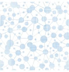 Blue molecules testile texture seamless pattern vector image vector image