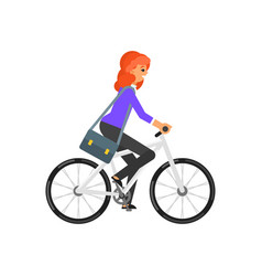 businesswoman hurrying to the job vector image