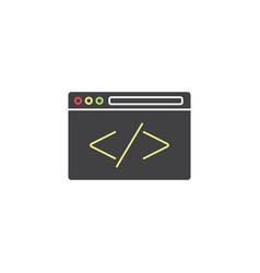 custom coding symbol programming vector image vector image