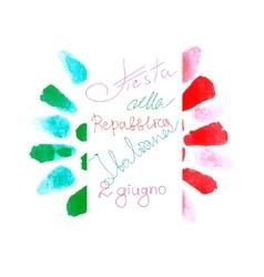 Italian Republic flag sign vector image vector image