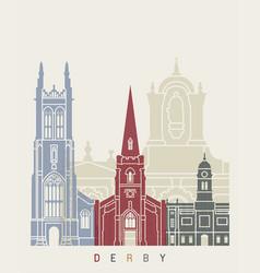 derby skyline poster vector image vector image