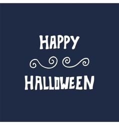 Happy Halloween card with hand lettering vector image vector image