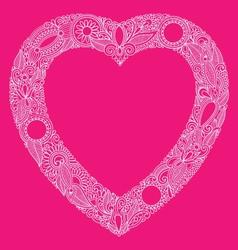 hearts doodle vector image vector image