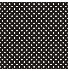 Seamless pattern white polka dots black background vector