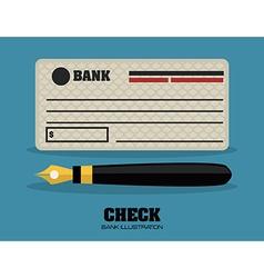 check bank design vector image