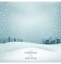 Christmas winter vector image