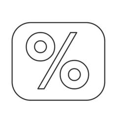 percentage symbol financial flat icon vector image