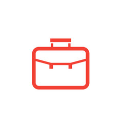 portfolio icon linear style vector image vector image