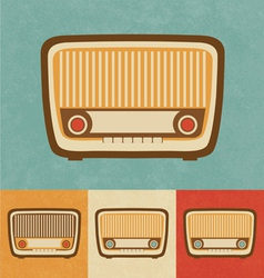 Retro Icons - Old Radio vector image vector image