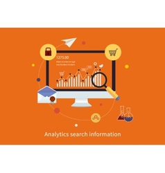 Search information and website SEO vector image vector image