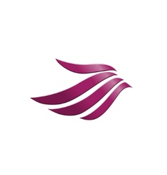 3d abstract wing flying logo for company vector image