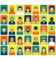 Avatars and user pics for website vector