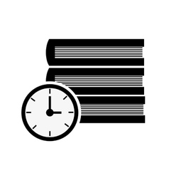 Books and clock time icon vector image