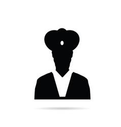 man chief icon black vector image vector image