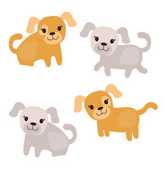 set of cute dogs set of cute dogs vector image vector image