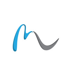abstract ml letter vector image