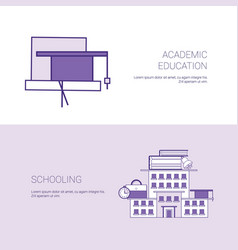 Academic education and schooling template web vector