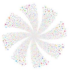 alarm fireworks swirl rotation vector image vector image