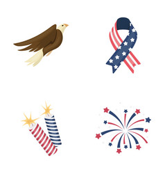american eagle ribbon salute the patriot s day vector image