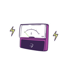 analog ammeter hand drawn on white background vector image