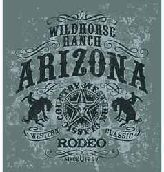 Arizona wild horse rodeo vector image