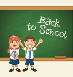 back to school student smiling happy with uniform vector image