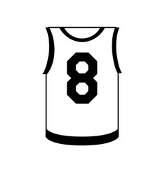 Basketball shirt icon image vector