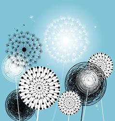 Beautiful dandelions vector