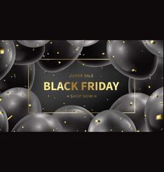 black friday sale web banner vector image