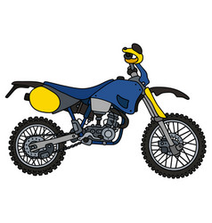 Blue motocross bike vector