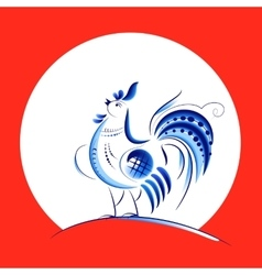 Blue New Year Rooster vector