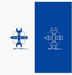 build design develop sketch tools line and glyph vector image