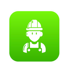 builder icon green vector image