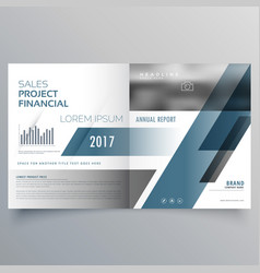 Business brochure cover page design template vector