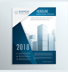 Business brochure leaflet cover page design for vector