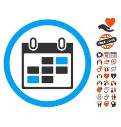 Calendar days icon with dating bonus vector