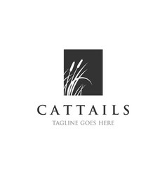 Cattails logo vector
