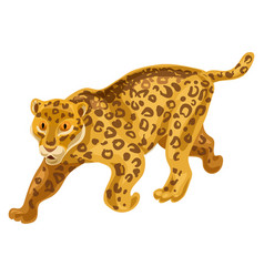 cheetah icon cartoon style vector image
