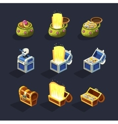Chest Set for Game Resource vector image