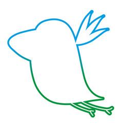 degraded line silhouette nice bird fauna animal vector image