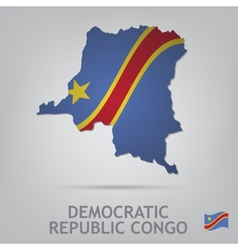 democratic republic congo vector image