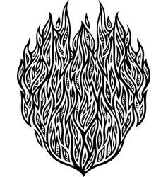 detailed pattern with fire vector image