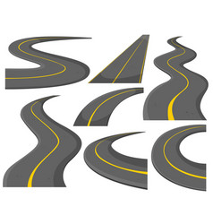 Different pattern of roads vector