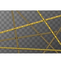 Different yellow and black caution tapes on vector image
