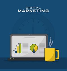 digital marketing business vector image