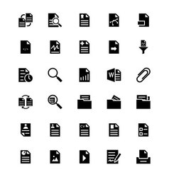 Documents Icons 3 vector image vector image