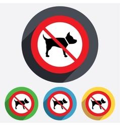 Dog sign icon no pets symbol vector