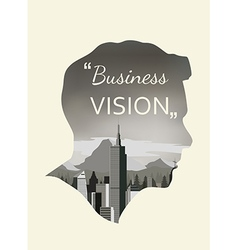 Double exposure for business vision vector