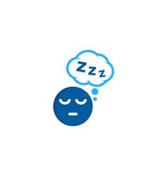 dream sleep logo icon design vector image